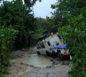 During rain, roads and routes become difficult to transverse.