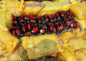 Explosives ready for detonation from safe distance
