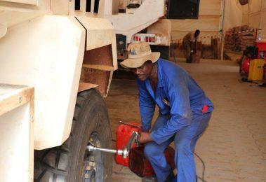Mechanic checking torque