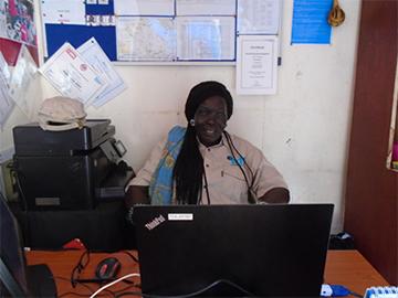 Arek in her office